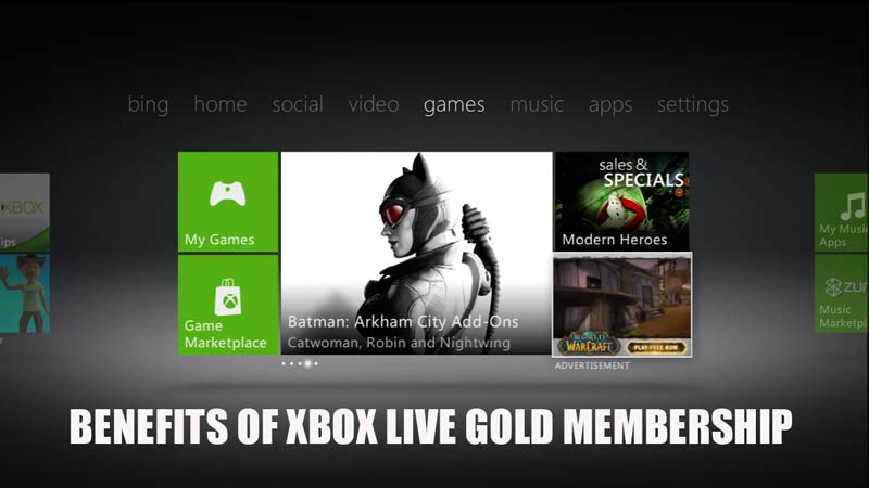 Xbox Live Gold Membership Benefits