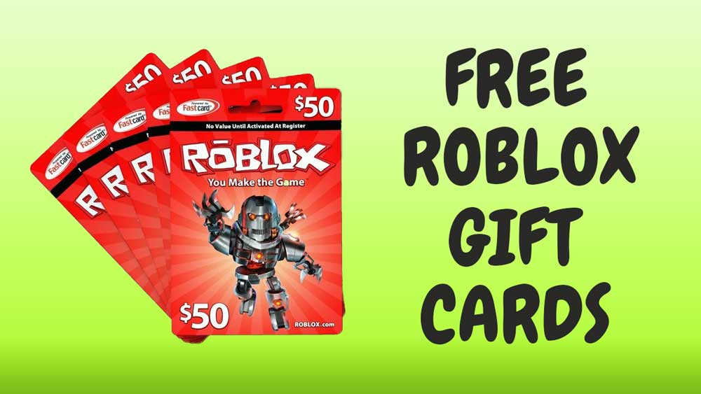 Free Roblox Gift cards unused